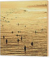 Surf Convention Wood Print by Ron Regalado