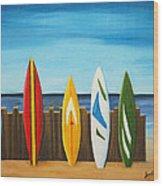 Surf On Wood Print