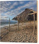 Surf Shack II Wood Print