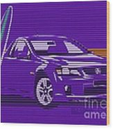 Surf Ute Purple Haze Wood Print