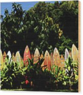 Surfboard Fence - Right Side Wood Print