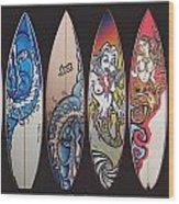 Surfboards Art Wood Print