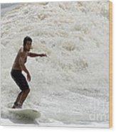 Surfer 0803b-2 Wood Print