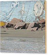 Surfer Beach 1034b Wood Print