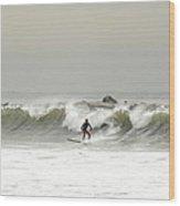 Surfer Beach 91st St Rockaway Queens Wood Print