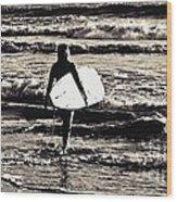 Surfer Girl Wood Print by Scott Allison