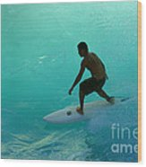 Surfer In The Zone Wood Print