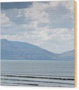 Surfer On The Beach, Inch Strand Wood Print