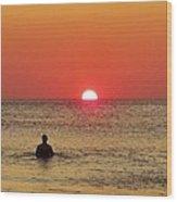 Surfer Sunrise 3 10/2 Wood Print