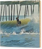 Surfer Sunrise 31 10/2 Wood Print