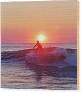 Surfer Sunrise 6 10/2 Wood Print