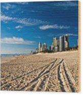 Surfers Paradise Beach South Wood Print