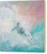 Surfin' Wood Print