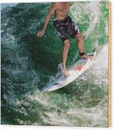 Surfin` Wood Print