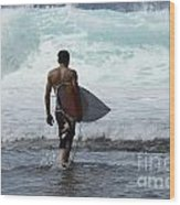 Surfing Brazil 3 Wood Print