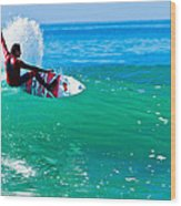 Surfing California Wood Print
