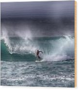 Surfing In The Usa V10 Wood Print