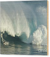 Surfing Jaws 1 Wood Print