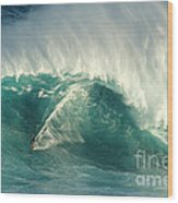 Surfing Jaws 2 Wood Print