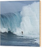 Surfing Jaws 4 Wood Print