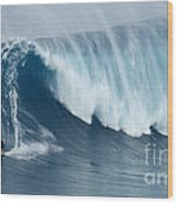 Surfing Jaws 5 Wood Print