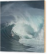 Surfing Jaws Fast And Furious Wood Print