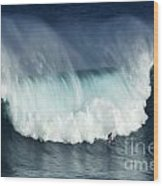 Surfing Jaws Running With Wolves Wood Print
