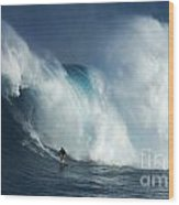 Surfing Jaws Surfing Giants Wood Print