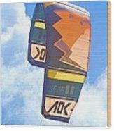 Surfing Kite Wood Print
