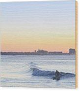 Surfing - Ocean City New Jersey Wood Print