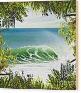 Surfing Paradise Wood Print