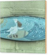 Surf's Up Guys And Gulls Wood Print