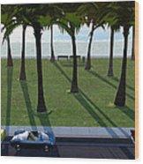 Surfside Wood Print by Cynthia Decker