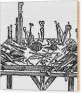Surgical Instruments, 1567 Wood Print