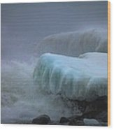 Surging Sea Wood Print by Mary Amerman