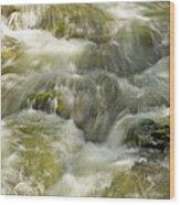 Surging Water Wood Print