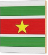 Suriname Flag Wood Print