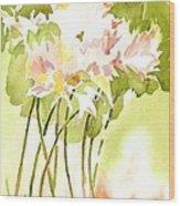 Surprise Lilies IIi A Portrait Wood Print