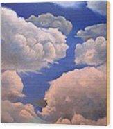 Surreal Cloud One Wood Print by Paula Marsh