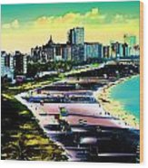 Surreal Colors Of Miami Beach Florida Wood Print
