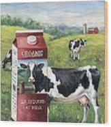 Surreal Cow Wood Print