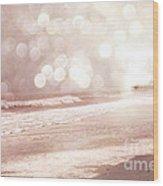 Surreal Dreamy South Carolina Ocean Beach Nature Wood Print by Kathy Fornal