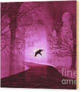 Surreal Fantasy Gothic Raven Crow Nature Wood Print