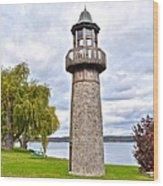 Surreal Lighthouse Wood Print
