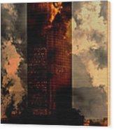 Surreal Sky Scraper Wood Print