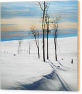 Surreal Snowscape Wood Print