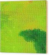 Surrepititous Green Wood Print