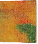Surrepititous Orange Wood Print