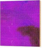 Surrepititous Purple Blue Wood Print