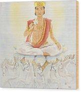 Surya The Sun Wood Print